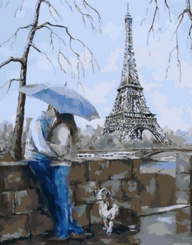 Landscape Eiffel Tower Diy Paint By Numbers Kits XQ1435