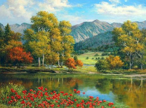 Landscape Forest Lake Diy Paint By Numbers Kits VM50008