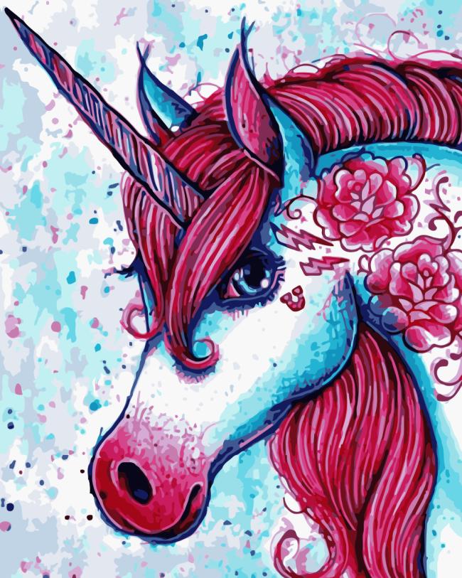 Unicorn Diy Paint By Numbers Kits WM716