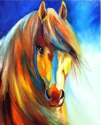 Animal Horse Diy Paint By Numbers Kits XQ2910