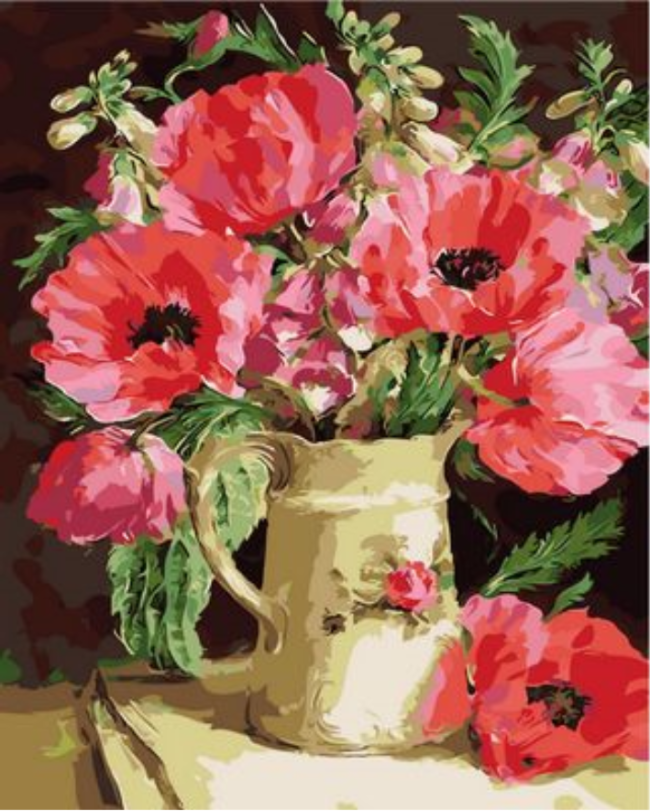 Poppy Flower Diy Paint By Numbers Kits XQ996