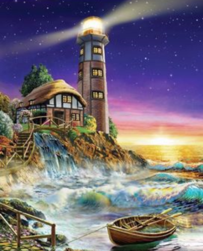 Lighthouse Diy Paint By Numbers Kits  XQ2694