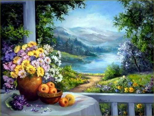 Flower Diy Paint By Numbers Kits VM90569