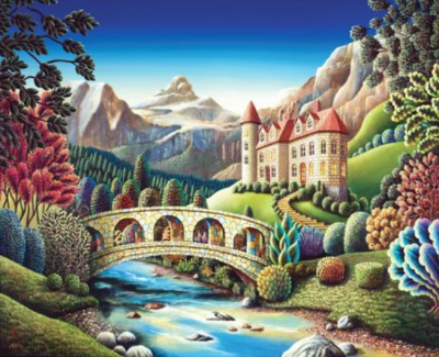 Landscape Village Paint By Numbers Kits VM85060
