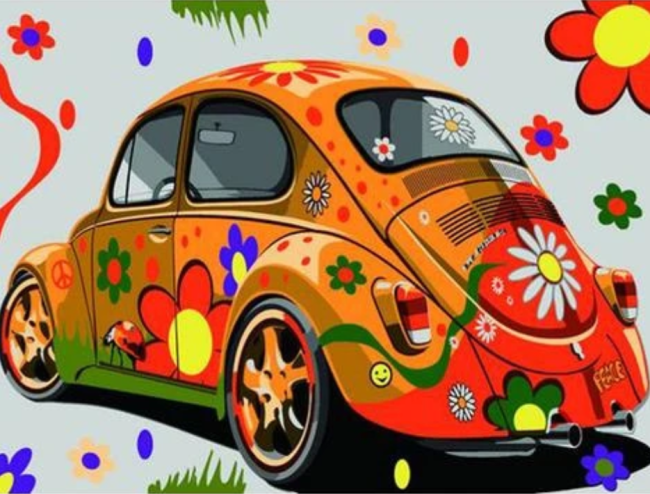 Beetle Car Diy Paint By Numbers Kits XB733