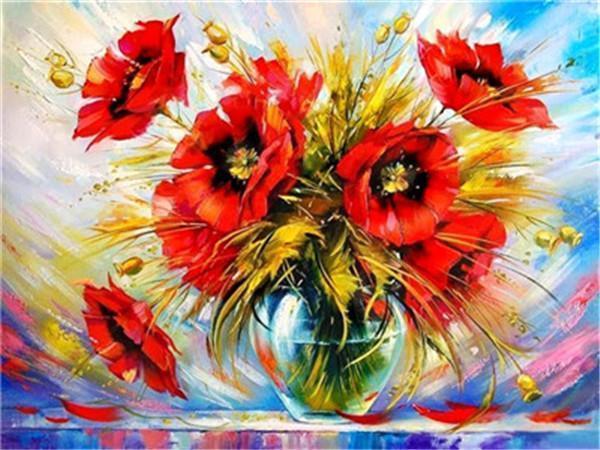Flower Diy Paint By Numbers Y5430