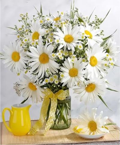 Chrysanthemum Diy Paint By Numbers Kits  XQ3483