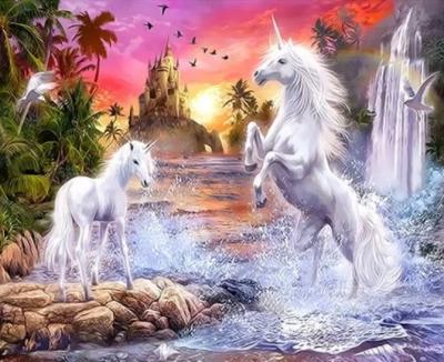 Unicorn Diy Paint By Numbers Kits XQ3519