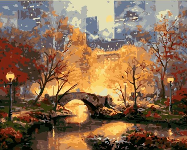 Landscape Bridge Building Diy Paint By Numbers Kits WM1419