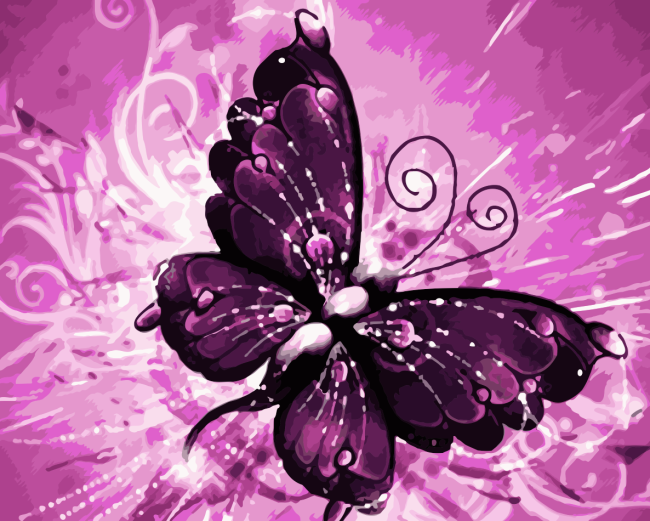 Butterfly Diy Paint By Numbers Kits WM859