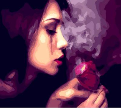 Portrait Woman Diy Paint By Numbers Kits  XQ268