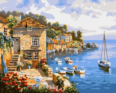 Charming Village Paint By Numbers Kits VM91035