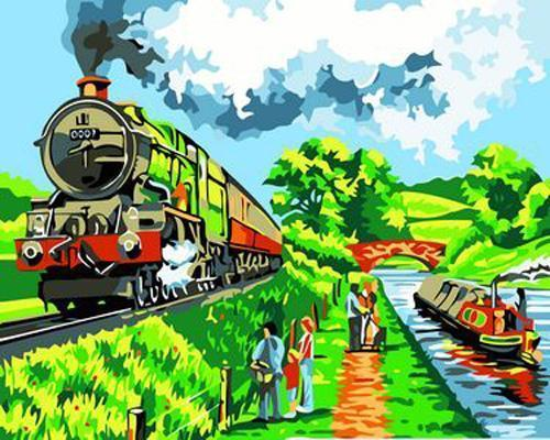 Train Diy Paint By Numbers Kits XB219