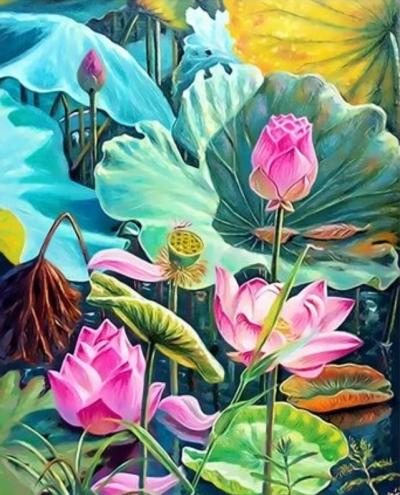Lotus Diy Paint By Numbers Kits XQ3841