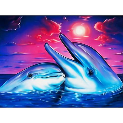 Dolphin Diy Paint By Numbers Kits FA90140