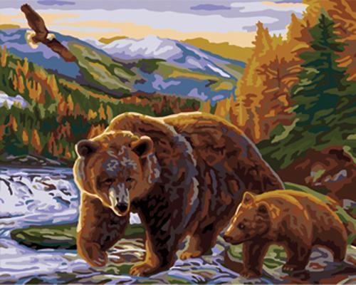 Bear Diy Paint By Numbers Kits B416