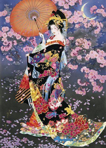 Japanese Woman Diy Paint By Numbers Kits BN45957