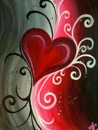 Heart Diy Paint By Numbers Kits FA90133