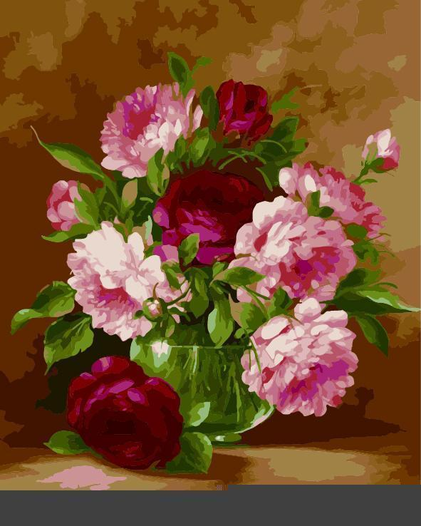 Flower Diy Paint By Numbers Kits E621