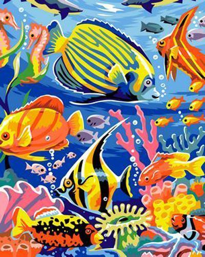 Fish Diy Paint By Numbers Kits B346