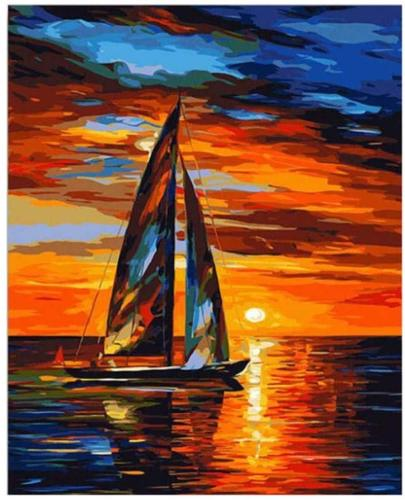 Landscape Boat Paint By Numbers Kits BN91062