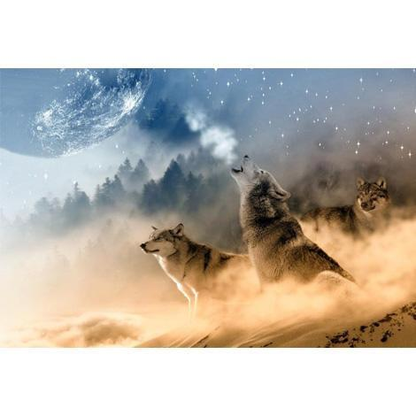 Wolf Diy Paint By Numbers Kits BN90222