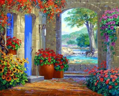 Garden Diy Paint By Numbers Kits BN94372