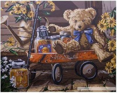 Teddy Bear Diy Paint By Numbers Kits B38