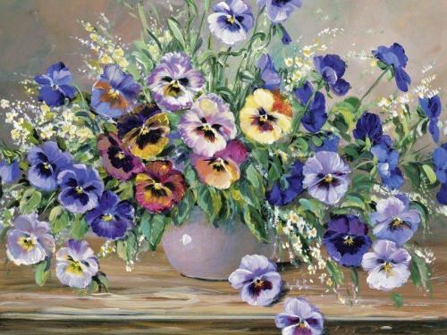 Flower Diy Paint By Numbers RA3374