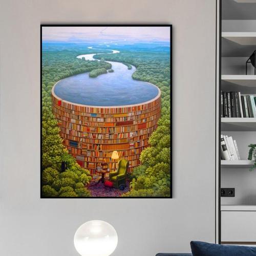 Hot Sale Landscape Fantasy Mystical Diy Paint By Numbers Kits Uk RA3253