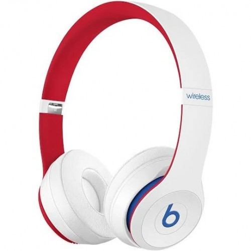 Solo3 Wireless On-Ear Headphones - White red blue