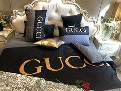 $100 A-312 Material:cotton  Four-piece set  size:1pc Duvet cover(200x230cm) +1pc bedsheet(240x250cm)+2pcs pillow case(45x74cm)