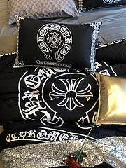 $100 A-309 Material:cotton  Four-piece set  size:1pc Duvet cover(200x230cm) +1pc bedsheet(240x250cm)+2pcs pillow case(45x74cm)