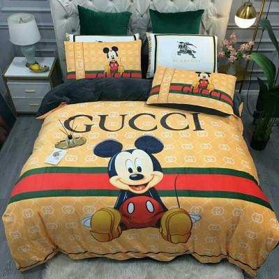 $100 A-304 Material:cotton  Four-piece set  size:1pc Duvet cover(200x230cm) +1pc bedsheet(240x250cm)+2pcs pillow case(45x74cm)