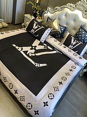 $100 A-316 Material:cotton  Four-piece set  size:1pc Duvet cover(200x230cm) +1pc bedsheet(240x250cm)+2pcs pillow case(45x74cm)