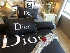 $100 A-313 Material:cotton  Four-piece set  size:1pc Duvet cover(200x230cm) +1pc bedsheet(240x250cm)+2pcs pillow case(45x74cm)