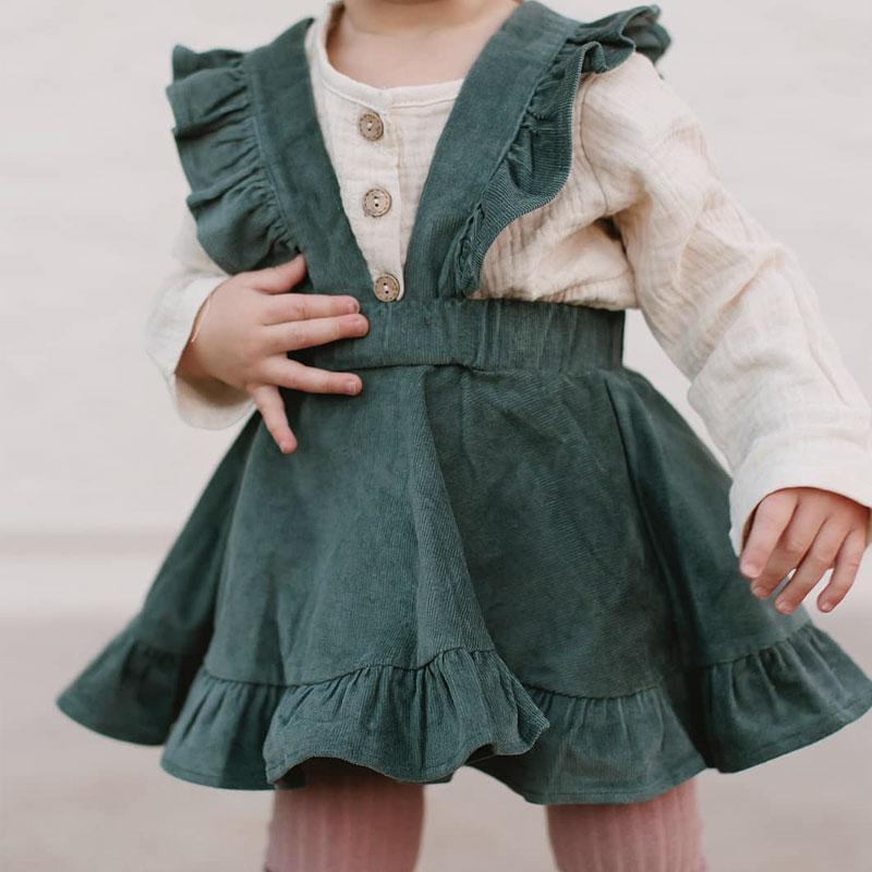 Ruffle Overall Skirt