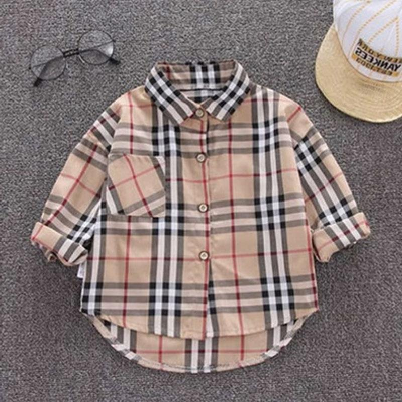 Plaid Polo-collar T-shirt