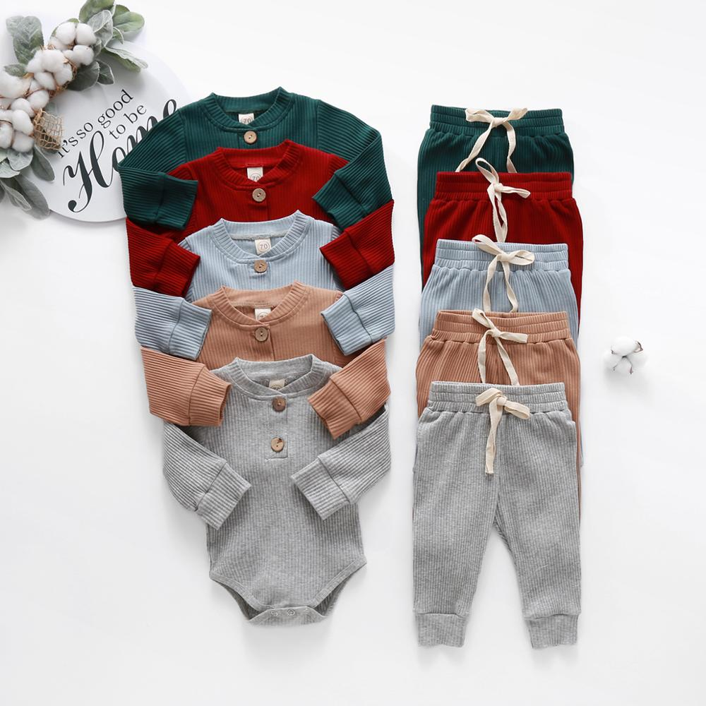 2pcs Stripe Romper and Pant Set