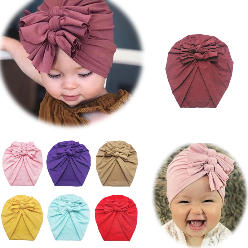 Multicolor Big Bow Hat