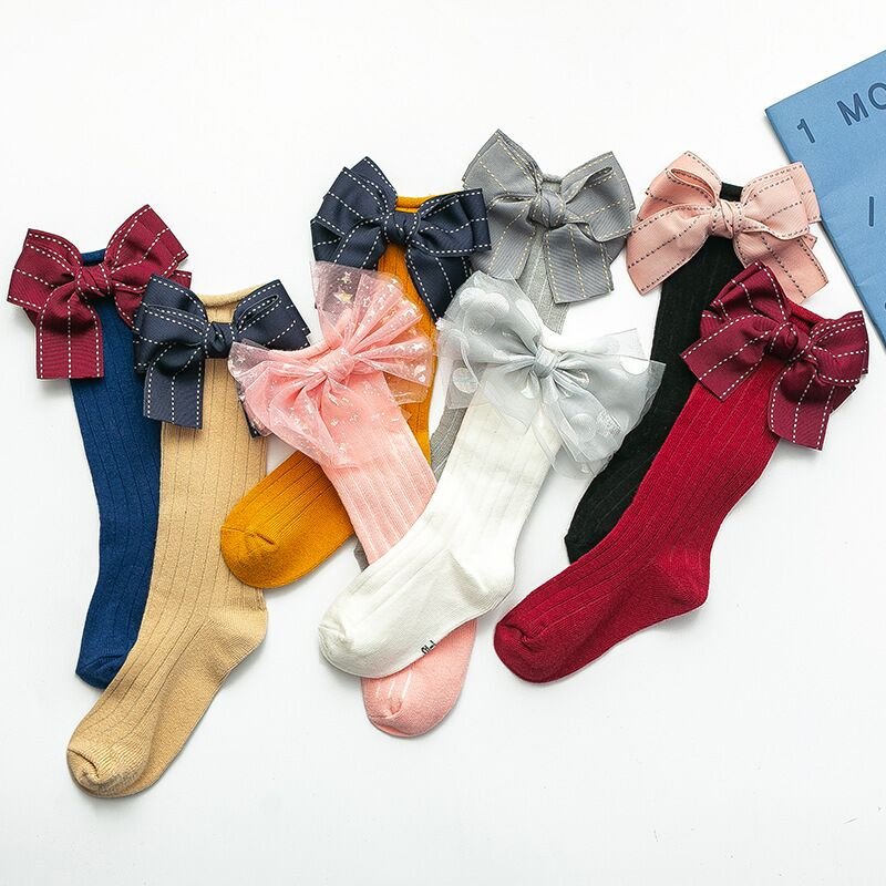 Multicolor Bows Sock