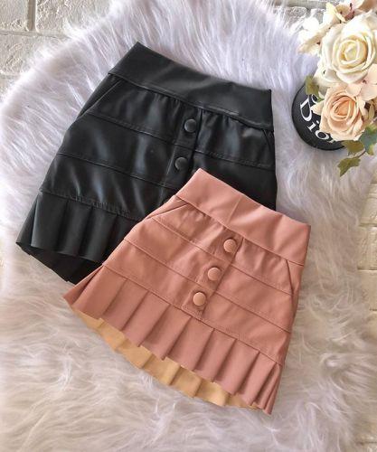 Toddler Gilr Pu Skirt