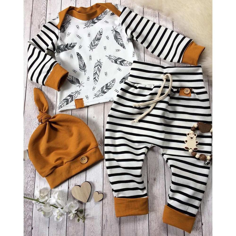 Stripe Print Long-sleeve Suit
