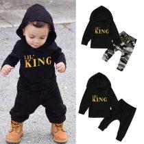 LiL King Print Hoodie Suit