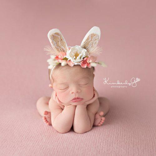 3D Rabbit Flower Headband