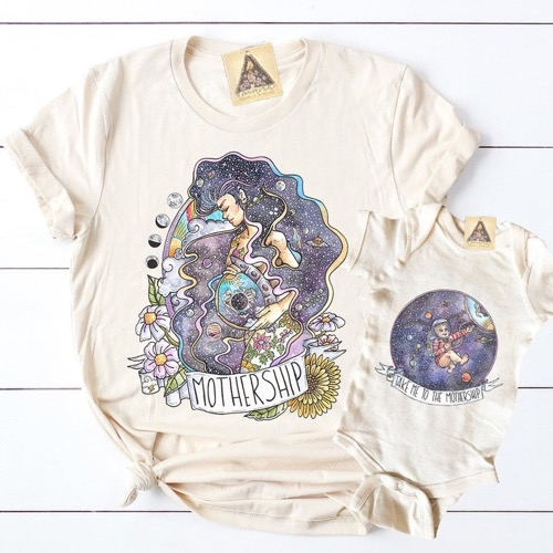 Mothership Cosmic Mother Family Tee