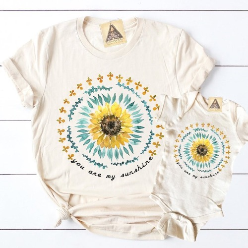Daisy Print Short-sleeve Family Tee