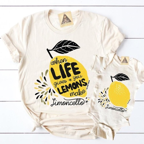 Lemon Letter Print Family Tee