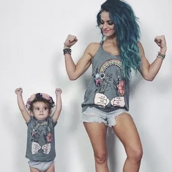 Floral Print Sleeveless Family Tee