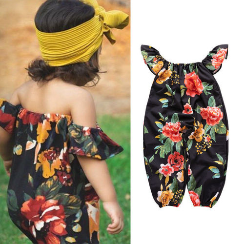 Flower Print One-neck Jumpsuit
